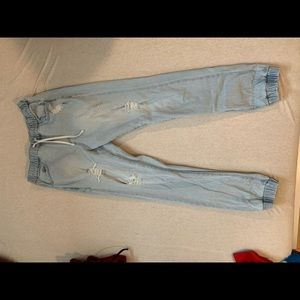 east pointe ripped jogger jeans